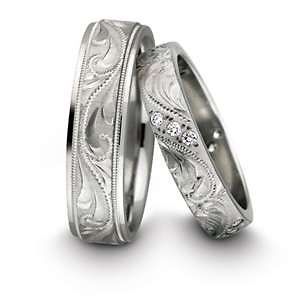 ring- silver wedding bands